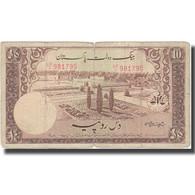 Billet, Pakistan, 10 Rupees, Undated (1951), KM:13, B+ - Pakistán