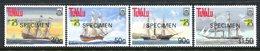 Tuvalu 1999 Australia '99 - Ships - 6th Issue - SPECIMEN - Set MNH (SG 832-835) - Tuvalu