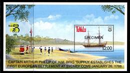 Tuvalu 1999 Australia '99 - Ships - 6th Issue - SPECIMEN - MS MNH (SG MS836) - Tuvalu