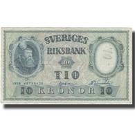 Billet, Suède, 10 Kronor, 1958, 1958, KM:43e, TB - Svezia