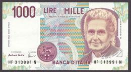 Italia / Italy 1990 - 1000 LIRE, Maria Montessori, Circulated - [ 2] 1946-… Republik