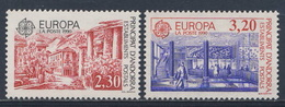 Andorra French Post 1990 Mi 409 /0 YT 388 /9 Sc 391 /2 SG F427 /8 ** Post Office Buildings /  Postalische Einrichtungen - Post