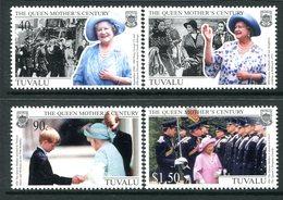 Tuvalu 1999 Queen Elizabeth The Queen Mothers Century Set MNH (SG 846-849) - Tuvalu