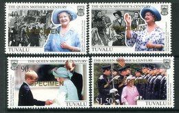 Tuvalu 1999 Queen Elizabeth The Queen Mothers Century - SPECIMEN - Set MNH (SG 846-849) - Tuvalu
