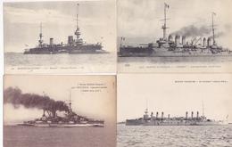 Lot De 39 Cpa- Bateaux De Guerre-uniquement Des Cuirassés-pas De Doubles - Guerra