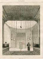 Chapel Palace Ottoman Turkish Empire Turkey Antique Engraving 1840 - Estampas & Grabados
