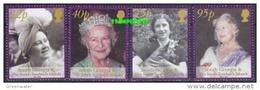 South Georgia 2002 Queen Mother 4v ** Mnh (47849) - Géorgie Du Sud
