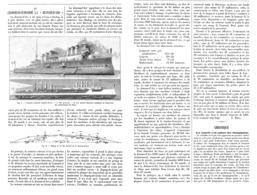 """LE CROISEUR-CUIRASSE La   """" JEANNE-D'ARC  """"    1899 - Bateaux"""