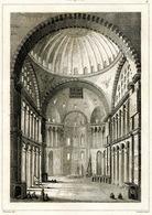 Hagia Sophia Ayasofya Istanbul Architecture Ottoman Turkish Empire Turkey Antique Engraving 1840 - Estampas & Grabados