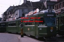 Reproduction D'une Photographie Dutramway B.V.B Ligne 6 Avec Publicité Cinzano Vermouth àBâle En Suisse En 1965 - Reproductions