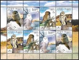 318 - Belarus - 2007 - Owls Of Belarus - Sheetlet Of 8v - MNH - Lemberg-Zp - Belarus