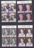 South Georgia 2002 Queen Mother 4v Bl Of 4 ** Mnh (47849B) - Géorgie Du Sud