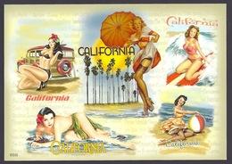USA - California Girls, Filles, Girl At The Beach, Bikini, Multiviews - Postcard - United States