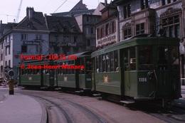 Reproduction D'une Photographie Dutramway B.V.B Ligne 14dans Le Centre De Bâle En Suisse En 1965 - Reproductions