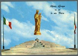 °°° Cartolina - Monte Grappa Cimitero Monumentale E La Madonnina Del Grappa Viaggiata °°° - Treviso