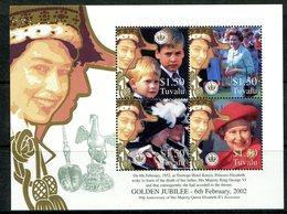 Tuvalu 2002 Golden Jubilee Sheetlet MNH (SG 1048-1051) - Tuvalu