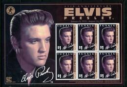 Tuvalu 2002 25th Death Anniversray Of Elvis Presley Sheetlet MNH (SG 1077) - Tuvalu