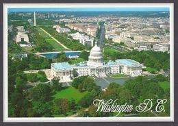 USA - Washington D.C. Aerial View, The Capitol, Lincoln Memorial, Pennsylvania Avenue, City Gardens - Postcard - Washington DC