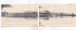 CPA PANORAMIQUE EN 2 VOLETS CAMPAGNE DE MAROC, MEDIUNA, VUE DE LA CASBAH (1907/1908) - Morocco