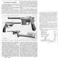 """LES PISTOLETS AUTOMATIQUES """" MAUSER / MANNLICHER """"  1899 - Army & War"""