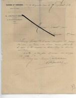 10 - Aube - NOGENT-SUR-SEINE - Facture LAUTELET-ABERT - Tannerie, Corroierie - 1882 - REF 286 - France