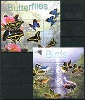Tuvalu 2003 Butterflies, Birds Flowers & Orchids Sheetlet (4) Set MNH (SG MS1108-1111) - Tuvalu