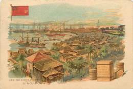 CHROMOS - LES GRANDS PORTS SINGAPOUR - Old Paper