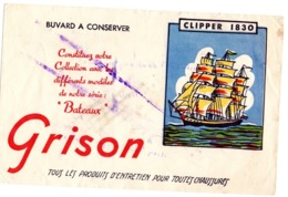 Buvard Grison Clipper 1830 Chaussures Entretien Cirage Bateaux - Wassen En Poetsen