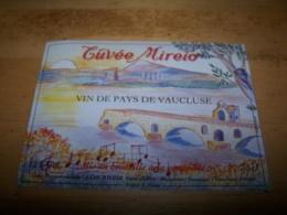 Etiquette Vin Wine Label Pont Ancien Bridge Ponte Puente Cotes Du Rhone Pont D Avignon Ireio Chanson Malemort Venasque - Ponti