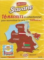 -- MAGNET SAVANE BROSSARD EUROPE ESTONIE LETTONIE LITUANIE BIELORUSSIE - Magnets