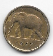 Belguim Congo 2 Francs 1947 Km 28 Vf+ - Congo (Belga) & Ruanda-Urundi