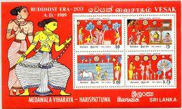 N° Yvert & Tellier 38 - Bloc Feuillet Du Sri-Lanka (1989) - ** Neuf - Peintures Murales Medawala-Vihararaya-Harispattuwa - Sri Lanka (Ceylon) (1948-...)