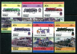 Tuvalu - Funafuti 1984 Locomotives - 1st Issue - SPECIMEN - Set MNH - Tuvalu