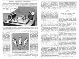 REDRESSEUR CATHODIQUE  Pour COURANTS INDUITS 1899 - Ciencia & Tecnología