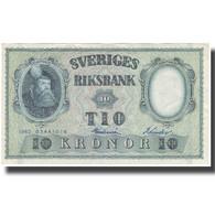 Billet, Suède, 10 Kronor, 1962, 1962, KM:43i, TTB+ - Svezia