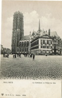 Mechelen  Malines  La Cathedrale Et L'hotel De Ville  DTC - Malines