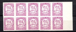 Espagne YT N° 616 En Bloc De Dix Timbres Non Dentelés Neufs ** MNH. TB. A Saisir! - 1931-Today: 2nd Rep - ... Juan Carlos I