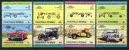 Tuvalu - Nanumaga 1984 Cars - 2nd Issue - SPECIMEN - Set MNH - Tuvalu