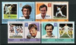 Tuvalu - Nanumea 1984 Cricketers - SPECIMEN - Set MNH - Tuvalu