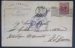 Cartolina Postale - Manifattura Calzature Ugo Ferrini - Tipo Leoni 10c - Censura - Stamps