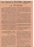 TRACT PROPAGANDE ALLEMANDE 27 JUIN 1944 DEBARQUEMENT NORMANDIE WEHRMACHT - 1939-45