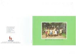 Double Grande Cpm - Inde - India - Kerala - Groupe Enfants Fête Après école - PARTAGE COMPIEGNE - - India