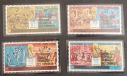 """COMORES YT 256/259 NEUFS**MNH SURCHARGES """"COUPE DU MONDE DE FOOTBALL"""" ANNÉE 1979 - Comores (1975-...)"""