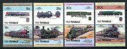 Tuvalu - Nui 1984 Locomotives - 1st Issue - SPECIMEN - Set MNH - Tuvalu (fr. Elliceinseln)