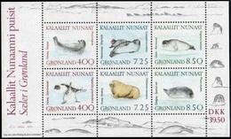 Greenland 1991 Marine Mammals MiNr 3,  Souvenir Sheet Unmounted Mint.MNH/** - Groenlandia