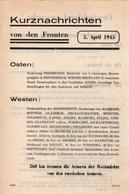 TRACT PROPAGANDE  ALLIEE 1945  KURZNACHRICHTEN   DT21 - 1939-45