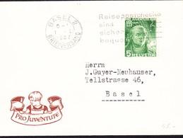 1937 Juventute Briefli Mit 5 Rp 1936 Aus/nach Basel - Covers & Documents