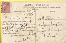 """Cachet Convoyeur """"Belley A Virieu Le Grand 1904"""" Semeuse Indice=2   Cp Yenne - Postmark Collection (Covers)"""