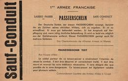 TRACT PROPAGANDE  ALLIEE 1944 1945  SAUF CONDUIT  PASSIERSCHEIN   DT9 - 1939-45
