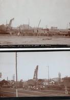 2 Photos Originales De 1928 ( 72 ) : Déraillement D'un Express En Gare Du Mans ( Format : 11 X 7 Cm ) - Plaatsen